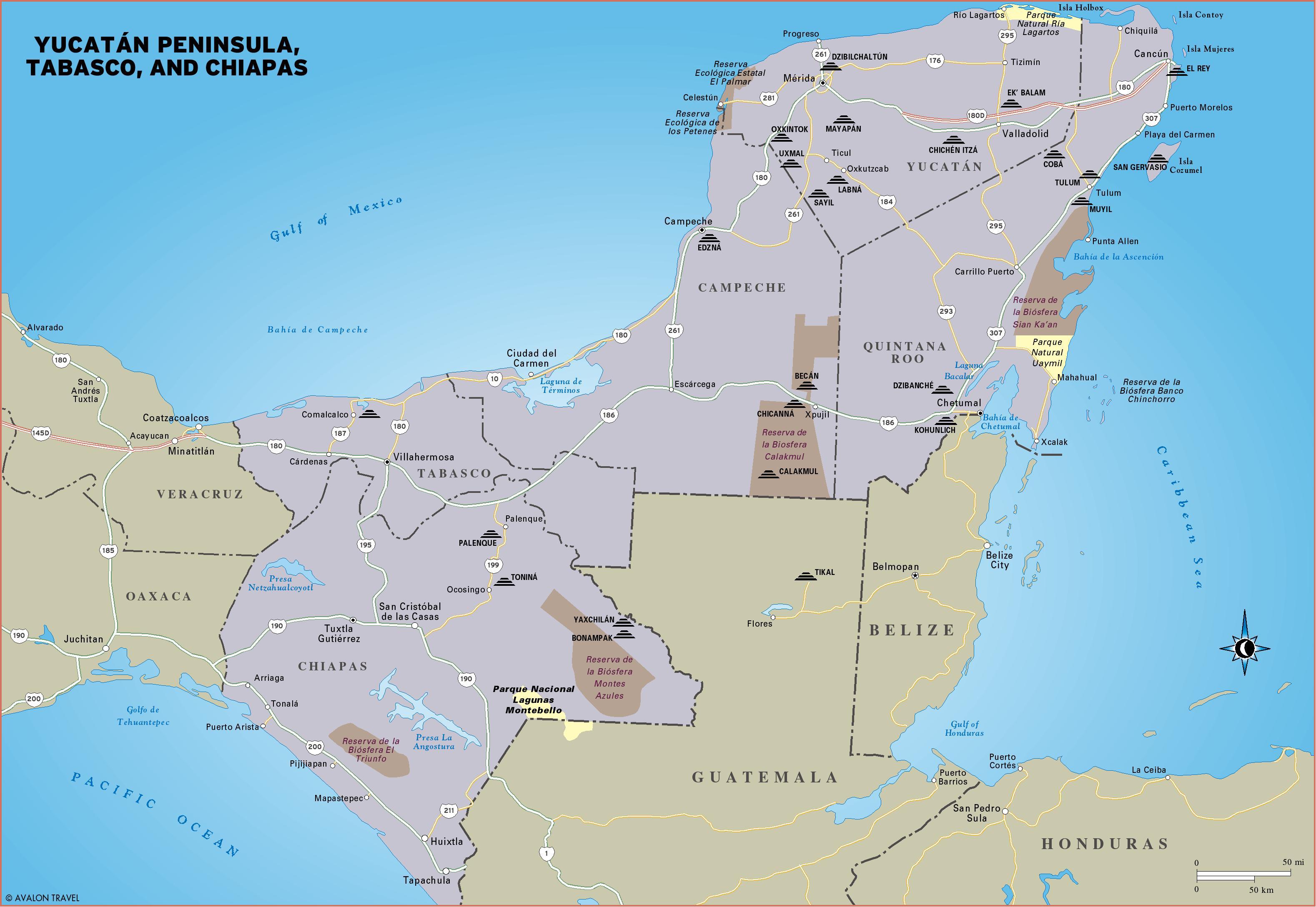 Yucatan Mexico Map