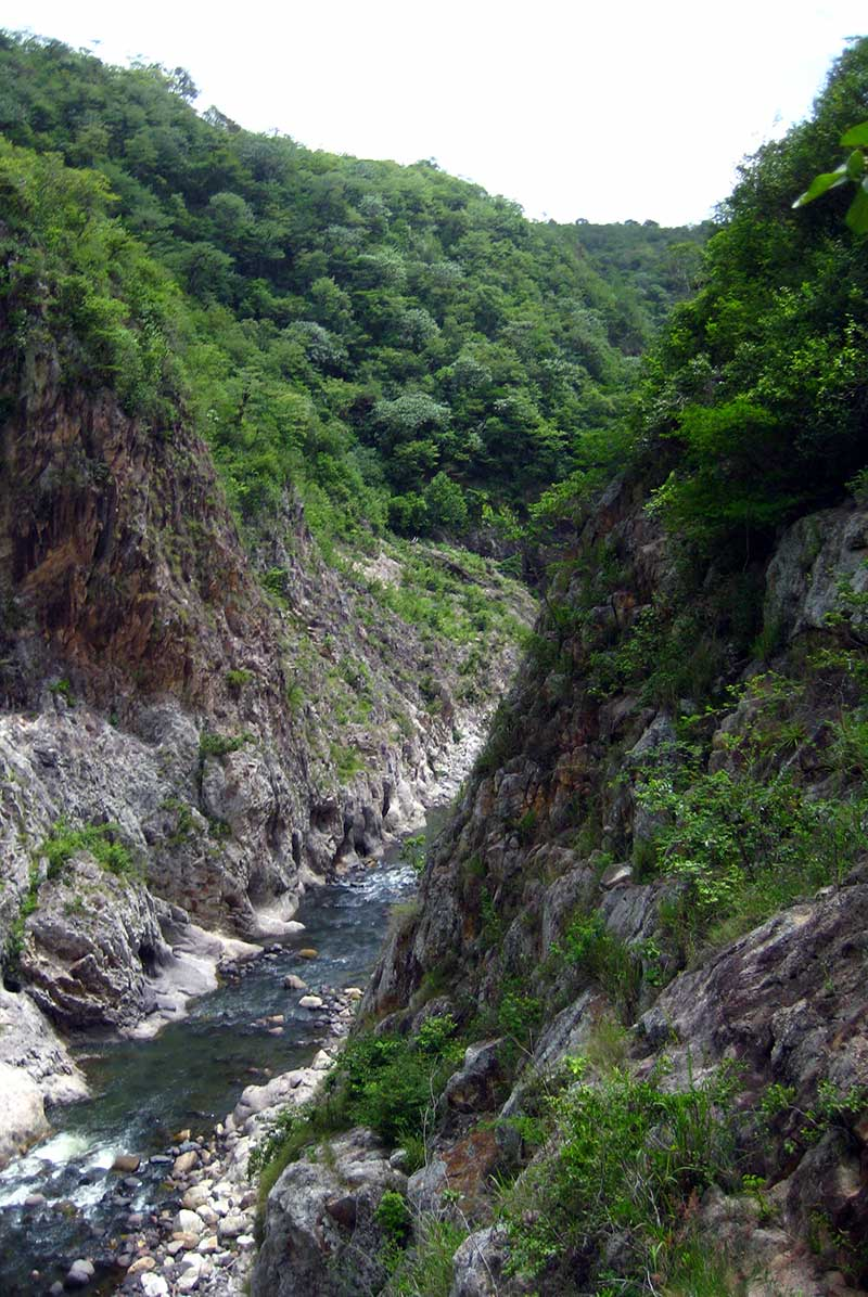 River through Somoto canyon in Nicaragua.