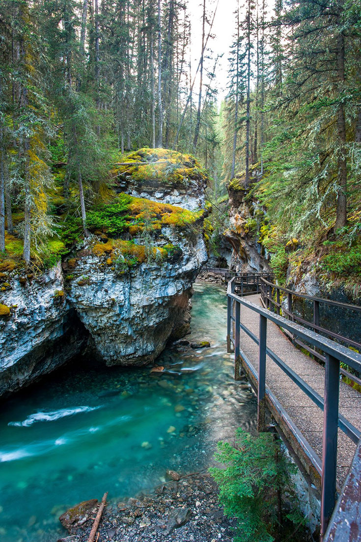 Johnston Canyon in Banff National Park.