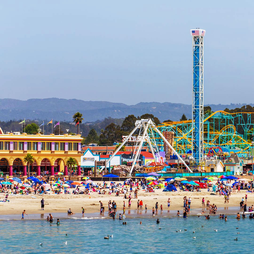 The Santa Cruz Beach Boardwalk is a classic stop on a California coast road trip.