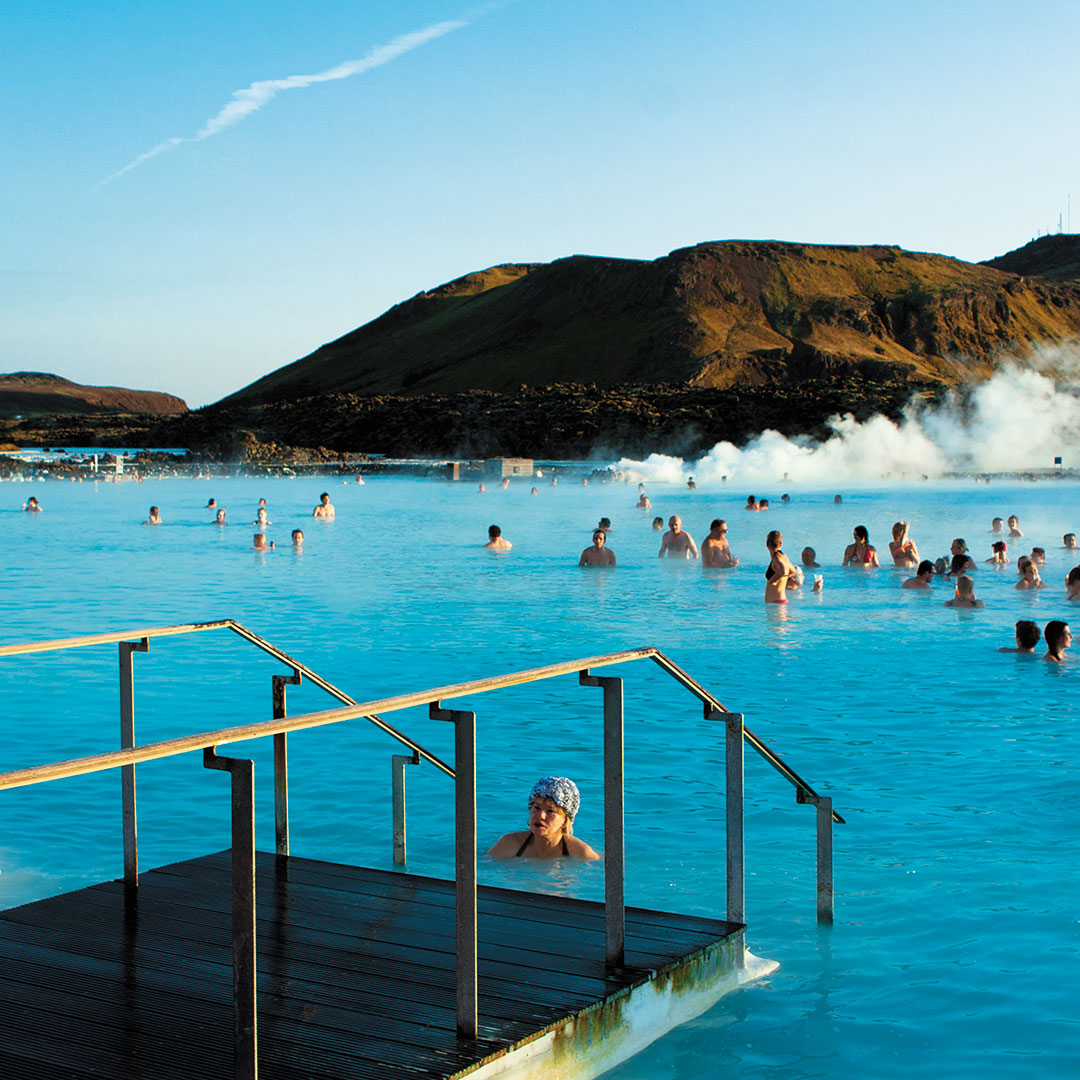 A rejuvenating soak at the Blue Lagoon is a great way to kick off your trip or end it on a relaxing note.