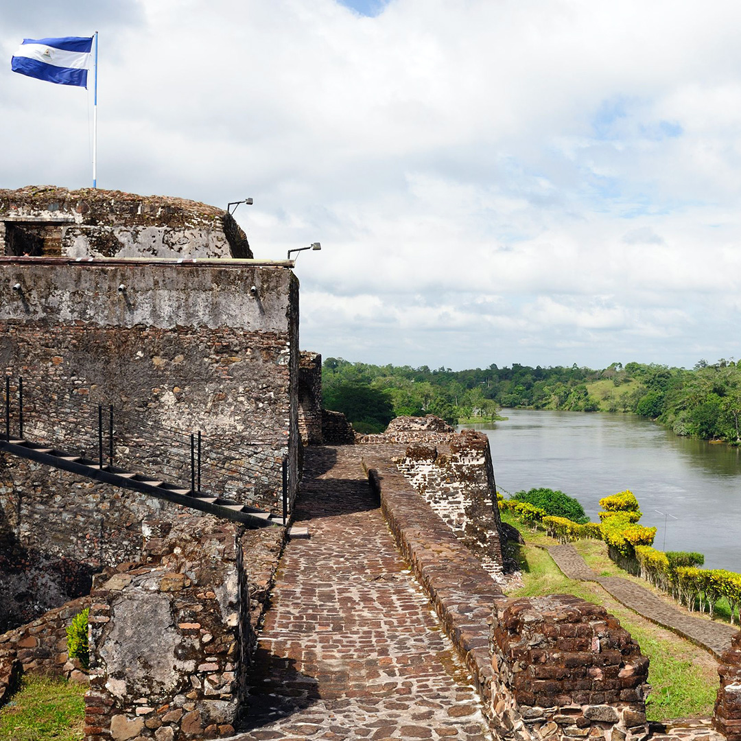 The old stone fort on the banks of the San Juan in El Castillo, Nicaragua.